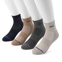 Men's IZOD 4-pack Cushioned Quarter Socks