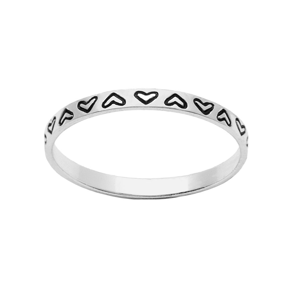 Itsy Bitsy Sterling Silver Heart Midi Ring