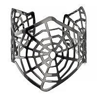 Openwork Spiderweb Cuff Bracelet