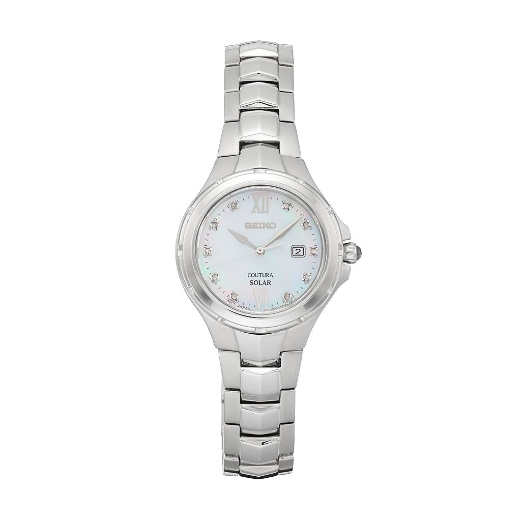Seiko Women's Coutura Diamond Stainless Steel Solar Watch - SUT307