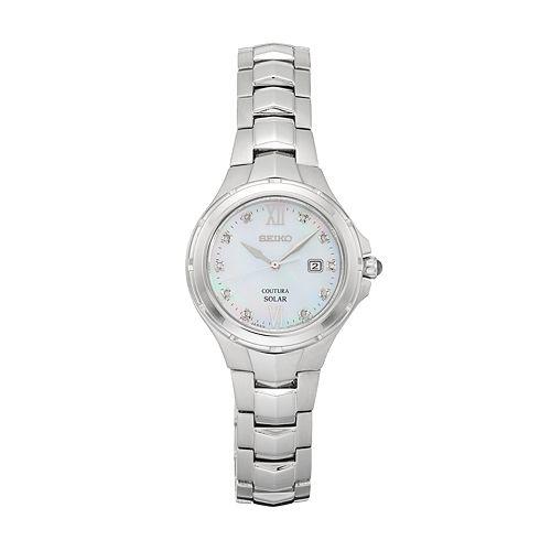 Seiko Women's Coutura Diamond Stainless Steel Solar Watch - SUT307