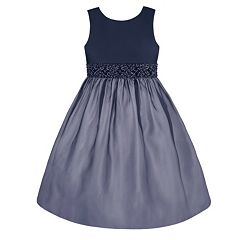 Girls 7-16 & Plus Size American Princess Beaded Waist Organza Dress