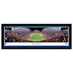 Denver Broncos Football Stadium End Zone Framed Wall Art
