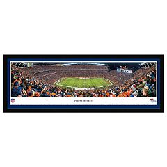 Denver Broncos Football Stadium 50-Yard Line Framed Wall Art