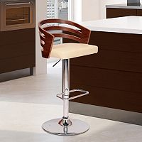 Armen Living Adele Adjustable Swivel Stool