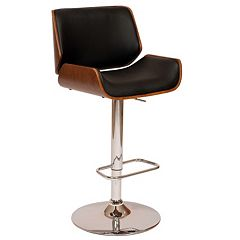 Armen Living London Adjustable Swivel Bar Stool