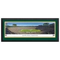 Green Bay Packers Football Stadium 50-Yard Line Framed Wall Art