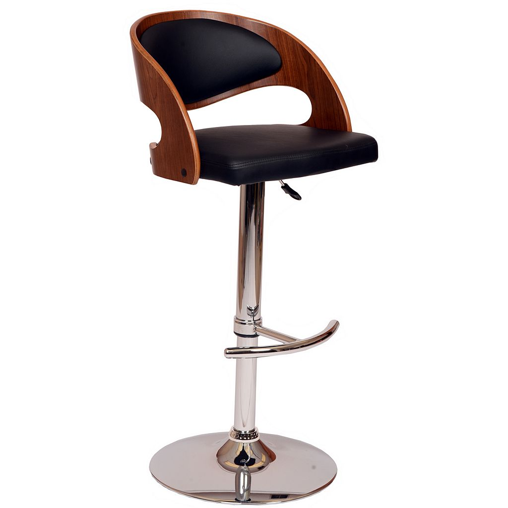 Armen Living Malibu Adjustable Swivel Bar Stool