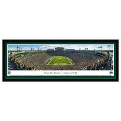 Green Bay Packers Football Stadium End Zone Framed Wall Art