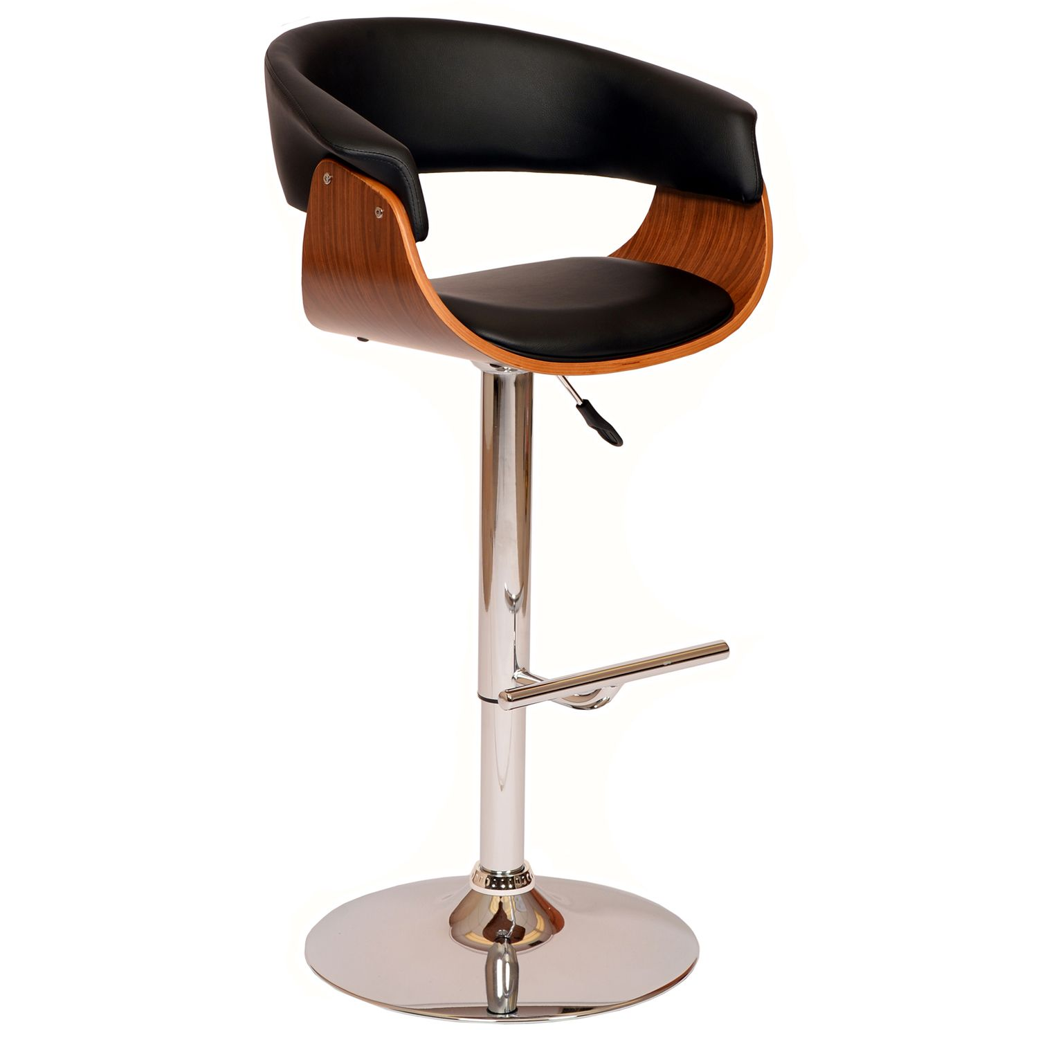 Armen Living Paris Adjustable Swivel Bar Stool