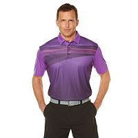 Men's Grand Slam Regular-Fit Ombre Performance Golf Polo