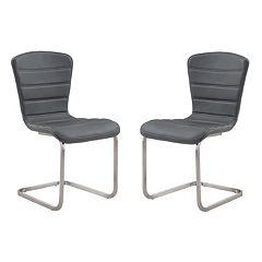 Armen Living Cameo Dining Chair 2-piece Set
