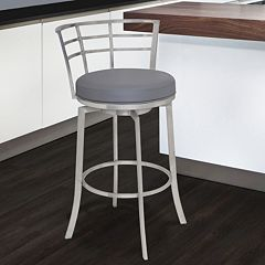Armen Living Viper 30' Stainless Steel Swivel Bar Stool