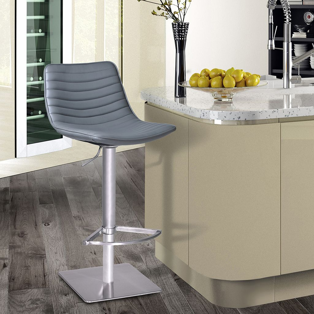 Armen Living Luna Adjustable Swivel Bar Stool