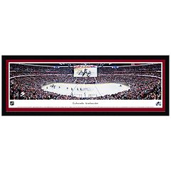 Colorado Avalanche Hockey Arena Center Ice Framed Wall Art