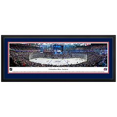 Columbus Blue Jackets Hockey Arena Center Ice Framed Wall Art