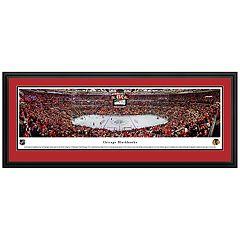 Chicago Blackhawks Hockey Arena Center Ice Framed Wall Art