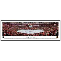 Chicago Blackhawks Hockey Arena Center Ice Framed Wall Art