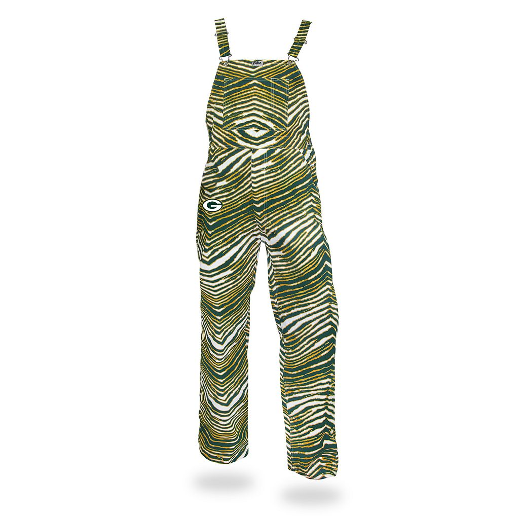 Men's Zubaz Green Bay Packers Bib Overalls