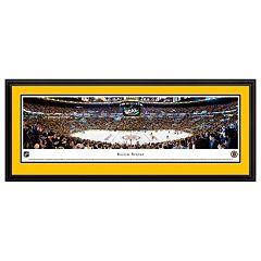Boston Bruins Hockey Arena Center Ice Framed Wall Art