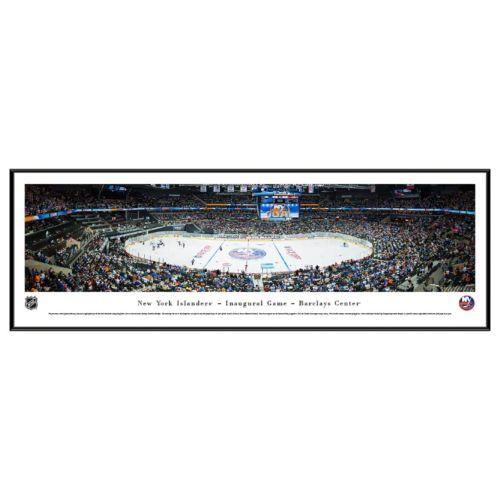 New York Islanders Hockey Arena 1st Game at Barclays Framed Wall Art