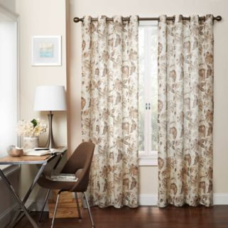 eclipse Wythe Floral UV Light-Filtering Sheer Window Curtain