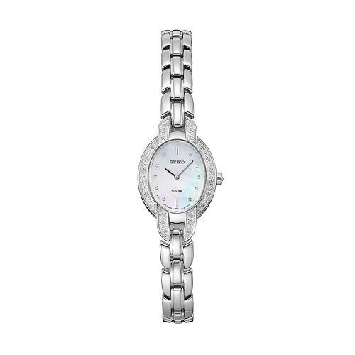 Seiko Women's Tressia Diamond Stainless Steel Solar Watch - SUP323