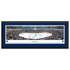 Winnipeg Jets Hockey Arena Center Ice Framed Wall Art