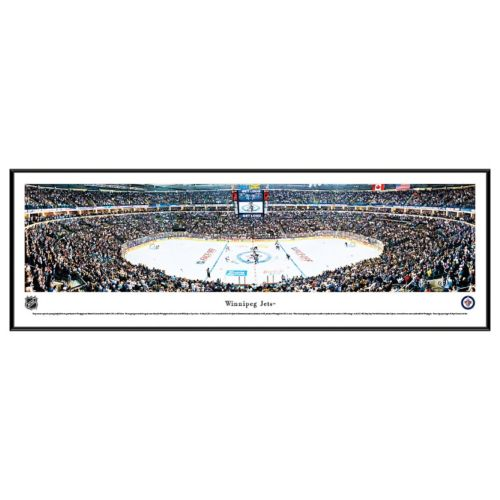 Winnipeg Jets Hockey Arena Center Ice Framed Wall Art