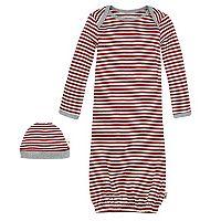 Baby Burt's Bees Baby Organic Family Pajamas Nightgown & Cap Set