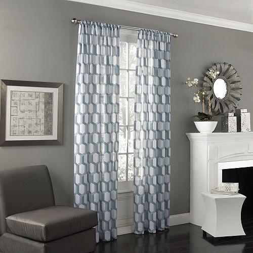 eclipse Candice UV Light-Filtering Sheer Window Curtain
