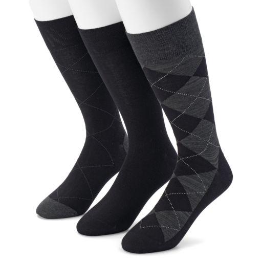 Men's Marc Anthony Argyle Heathered Dress Socks