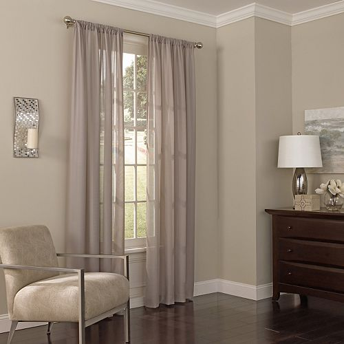 eclipse Thermalayer UV Light-Filtering 1-Panel Chelsea Sheer Window Curtain