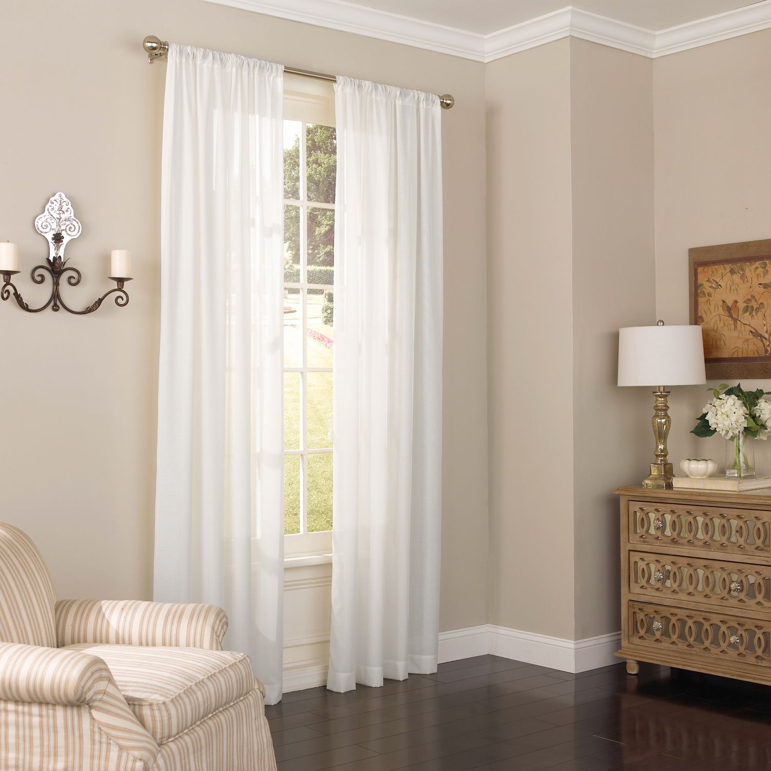 Eclipse Thermalayer UV Light Filtering 1 Panel Chelsea Sheer Window Curtain
