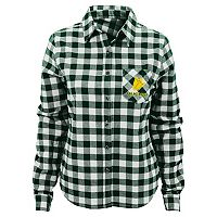 Juniors' Oregon Ducks Buffalo Plaid Flannel Shirt