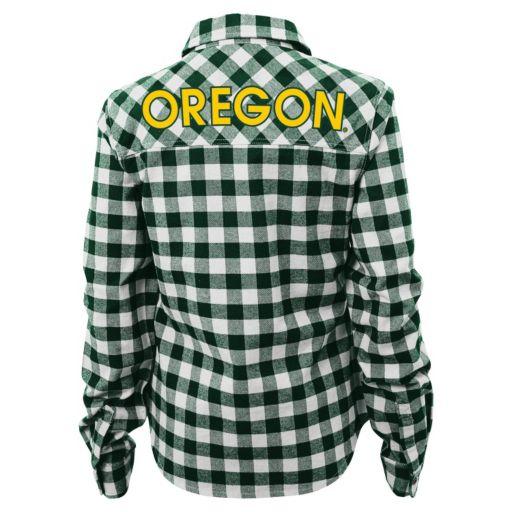 Juniors' Oregon Ducks Buffalo Plaid Flannel Shirt