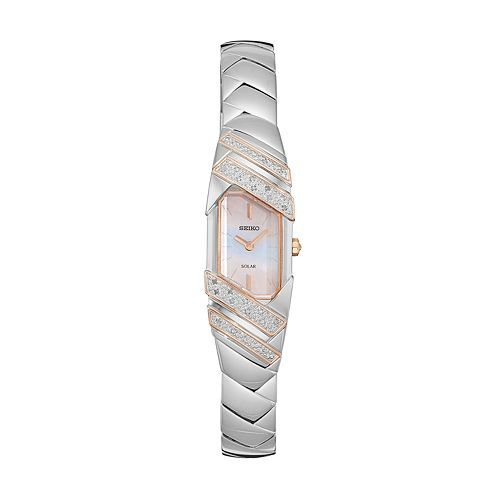 Seiko Women's Tressia Diamond Two Tone Stainless Steel Solar Watch - SUP332