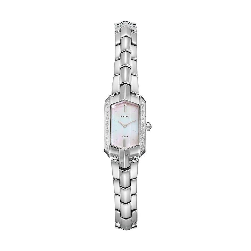 Seiko Women's Tressia Diamond Stainless Steel Solar Watch - SUP329