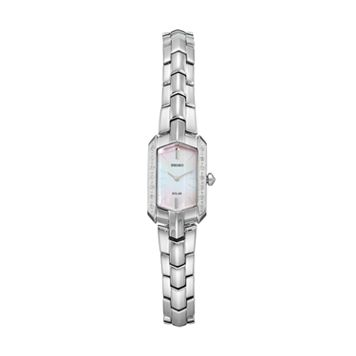 Seiko Women's Tressia Diamond Stainless Steel Solar Watch - SUP329
