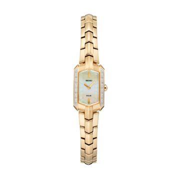 Seiko Women's Tressia Diamond Stainless Steel Solar Watch - SUP330