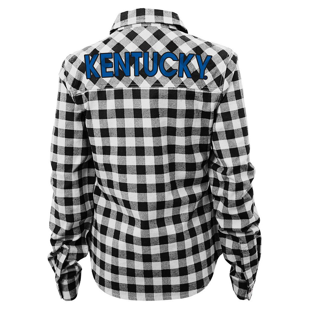 Juniors' Kentucky Wildcats Buffalo Plaid Flannel Shirt