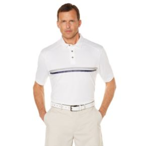Men's Grand Slam MotionFlow360 Regular-Fit Chest-Striped Performance Golf Polo