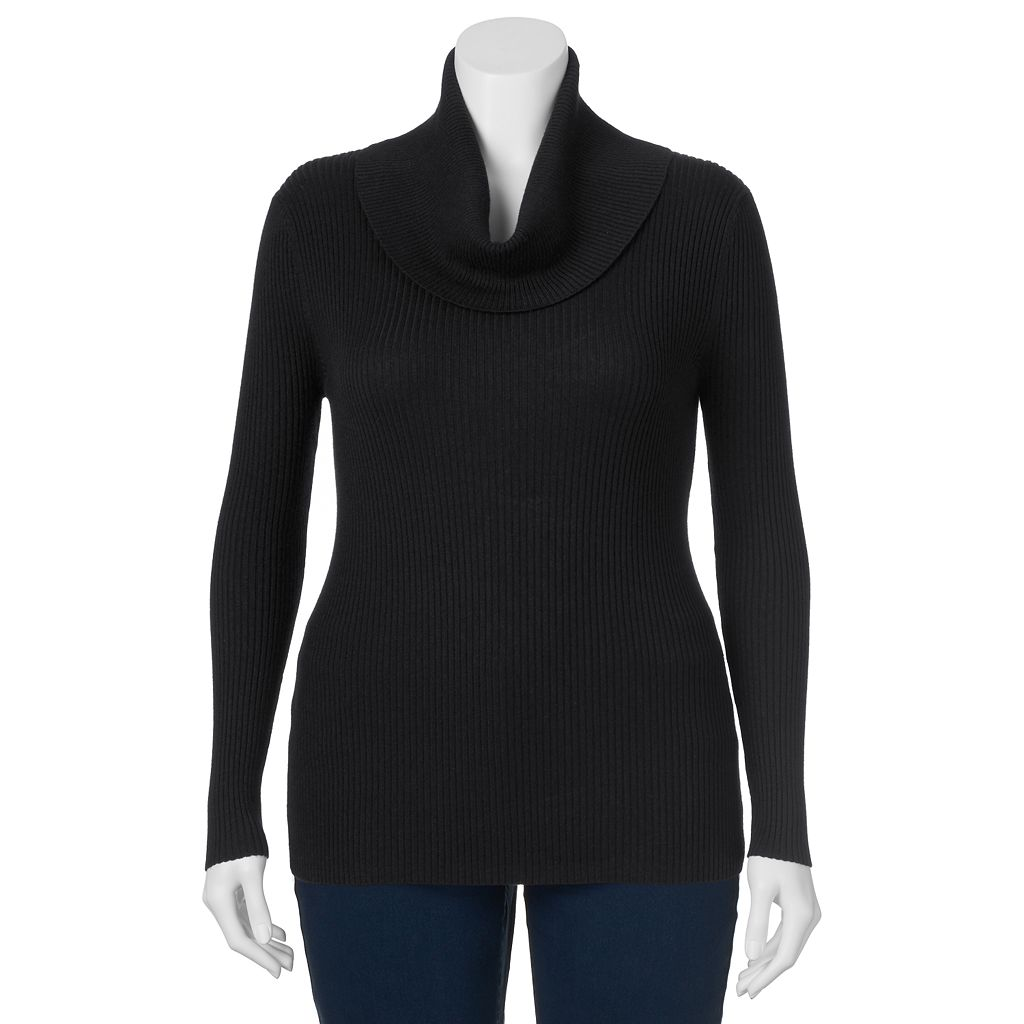 Juniors' Plus Size It's Our Time Cowlneck Ribbed Top