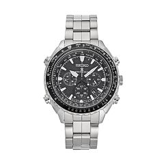 Seiko Men's Prospex Stainless Steel Solar Aviator Watch - SSG001