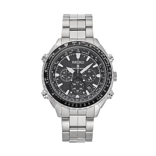 7a279db99 Seiko Men's Prospex Stainless Steel Solar Aviator Watch - SSG001