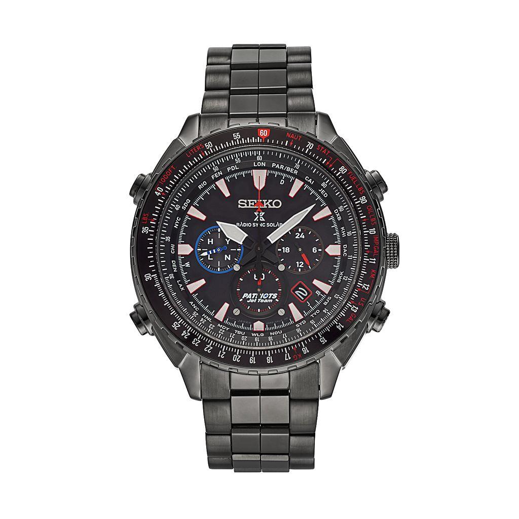 Seiko Men's Prospex Patriots Jet Team Stainless Steel Solar Watch & Coin Set - SSG007