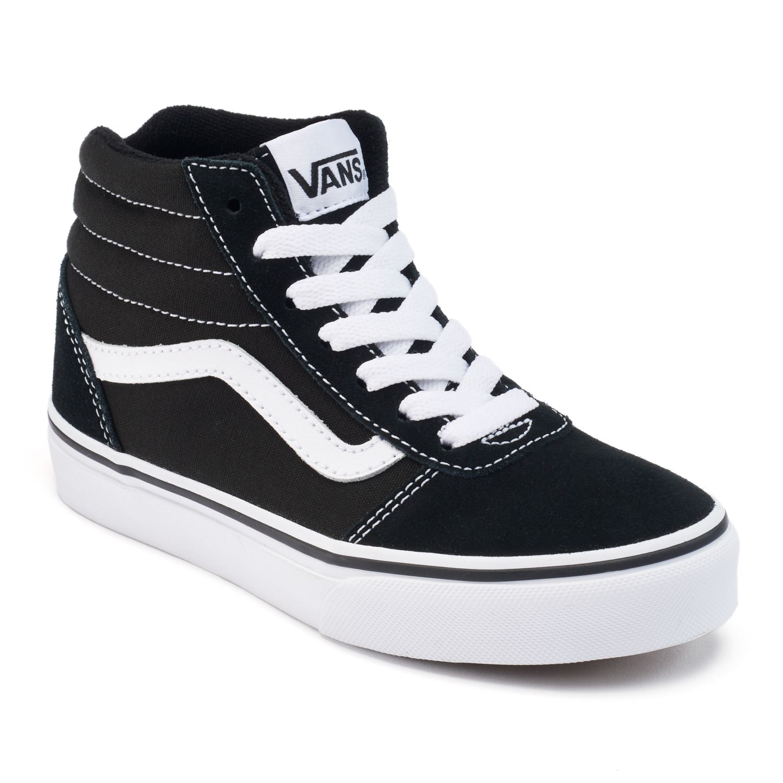 black high top vans girls