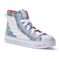 Skechers Twinkle Toes Shuffles Flutter Up Girls' Light-Up High Top Shoes