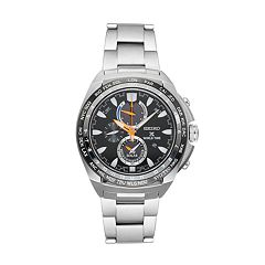 Seiko Men's Prospex Stainless Steel Solar Chronograph Watch - SSC487
