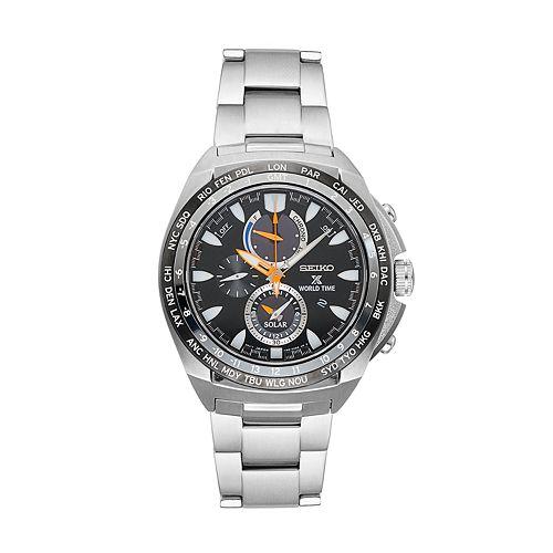 Seiko Men's Prospex Stainless Steel Solar Chronograph Watch - SSC487